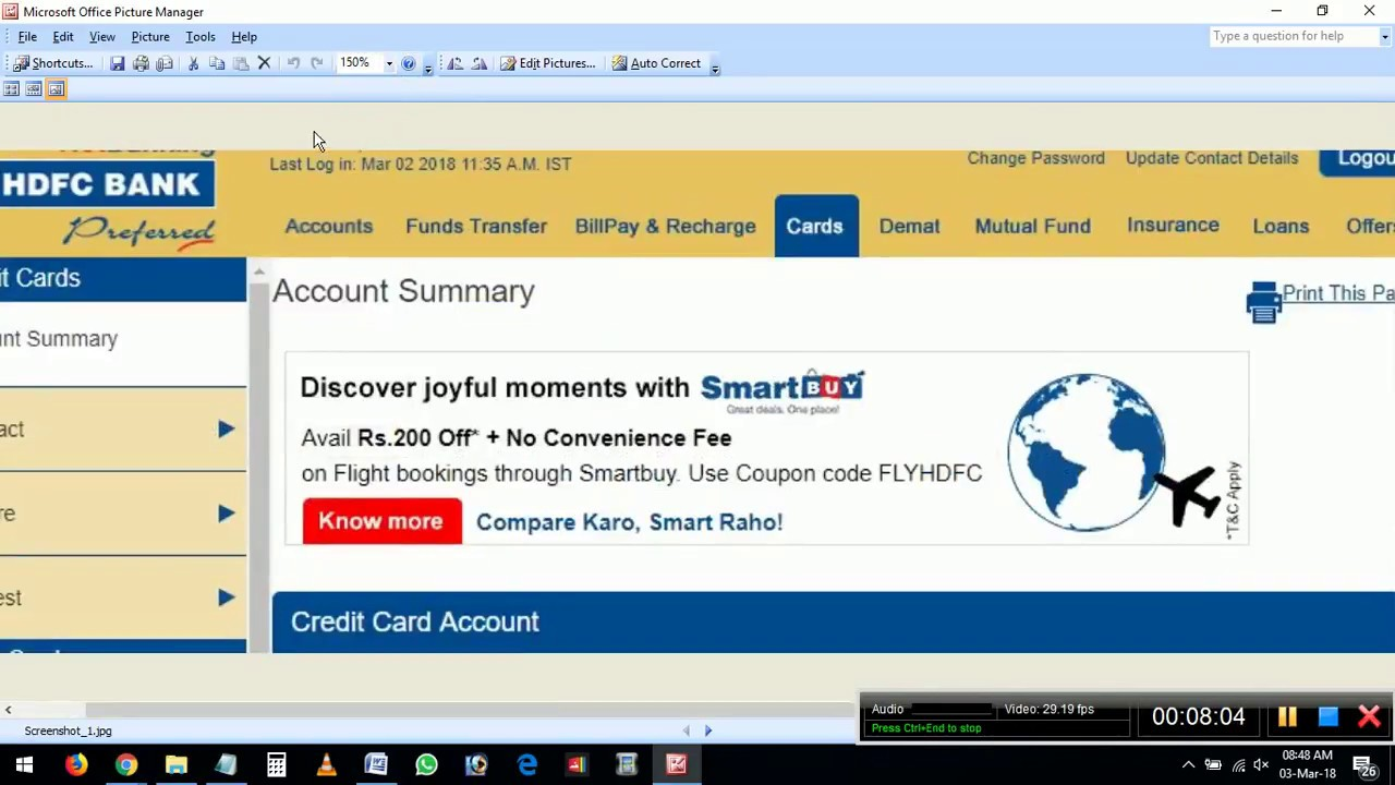 Hdfc Bank Credit Card Bill Payment Online Pay Through