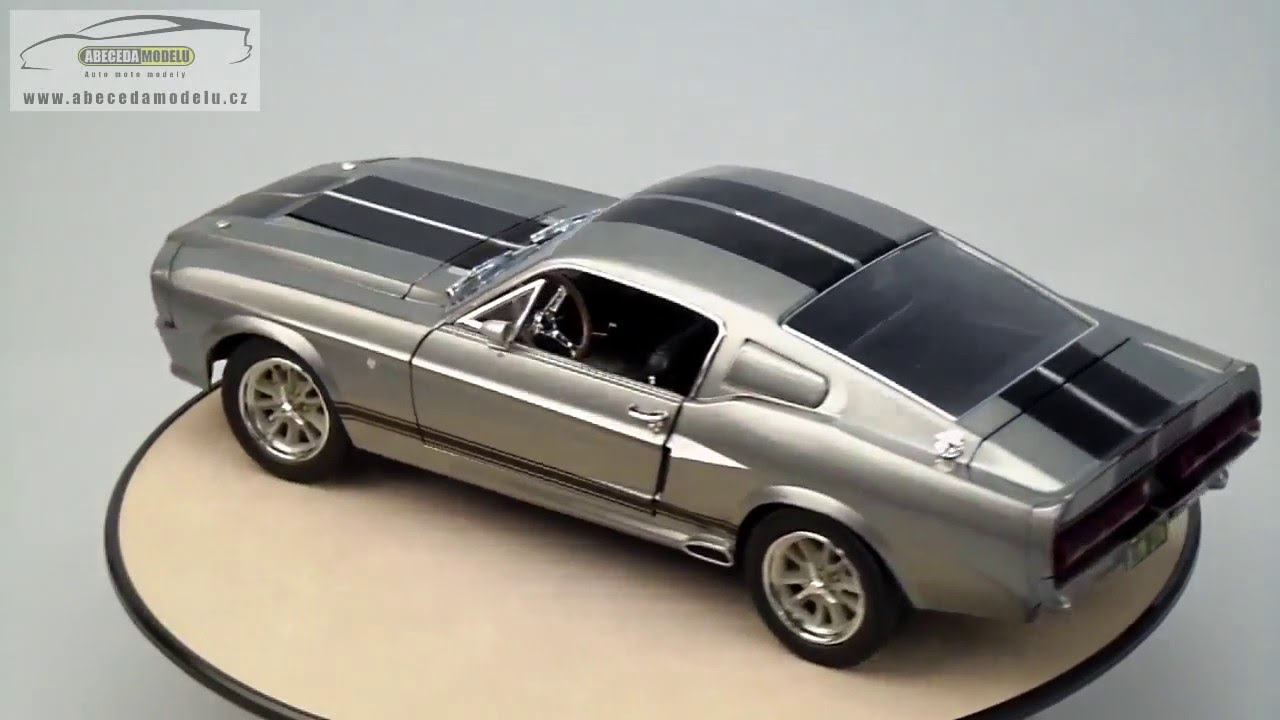 ford mustang gt500 shelby eleanor 1967 greenlight 1 18 youtube. Black Bedroom Furniture Sets. Home Design Ideas