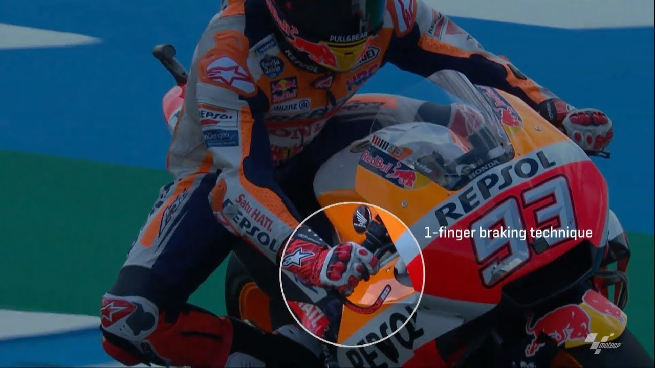 Motogp How Many Fingers Do Riders Use To Brake Youtube