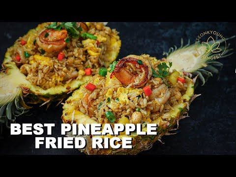 The BEST Pineapple Fried Rice Recipe in a Pineapple Bowl ������
