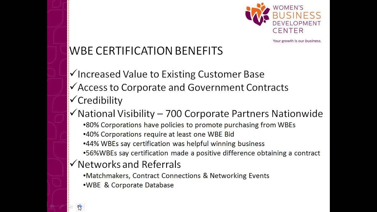 How To Leverage Your Wbenc Certification Youtube