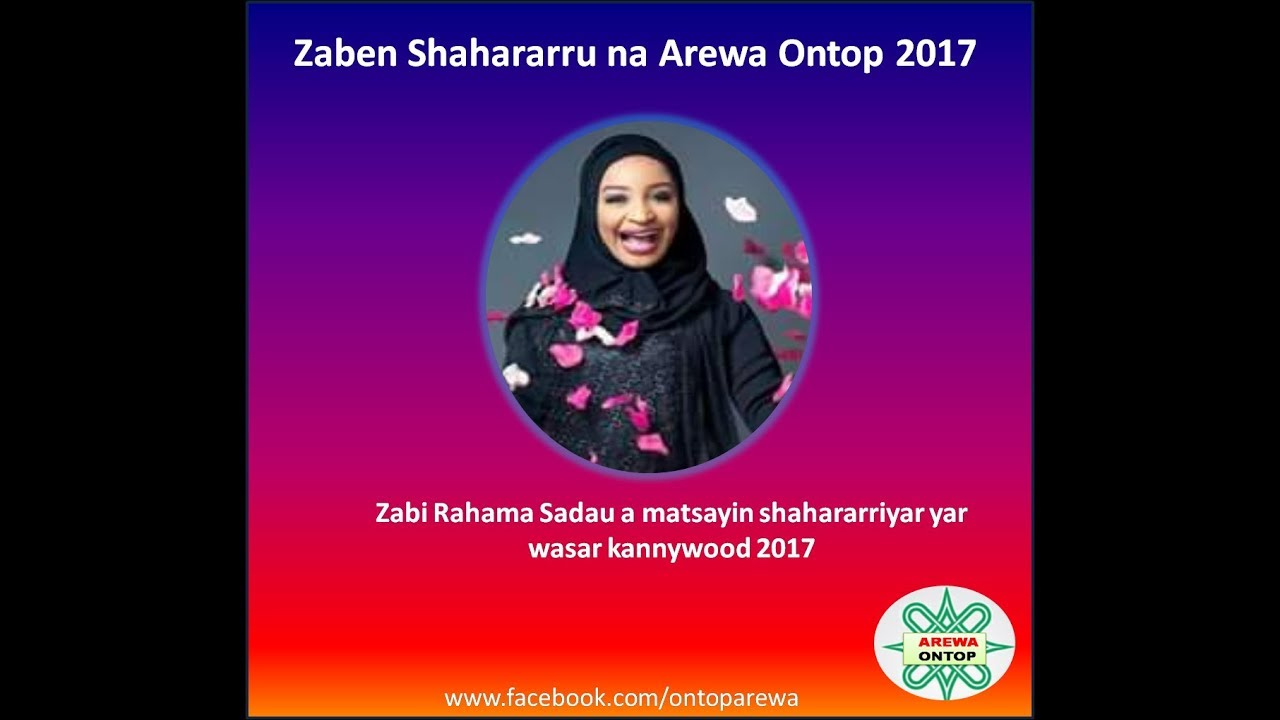 Download Zabi Rahama Sadau a matsayin shahararriyar yar wasar kannywood