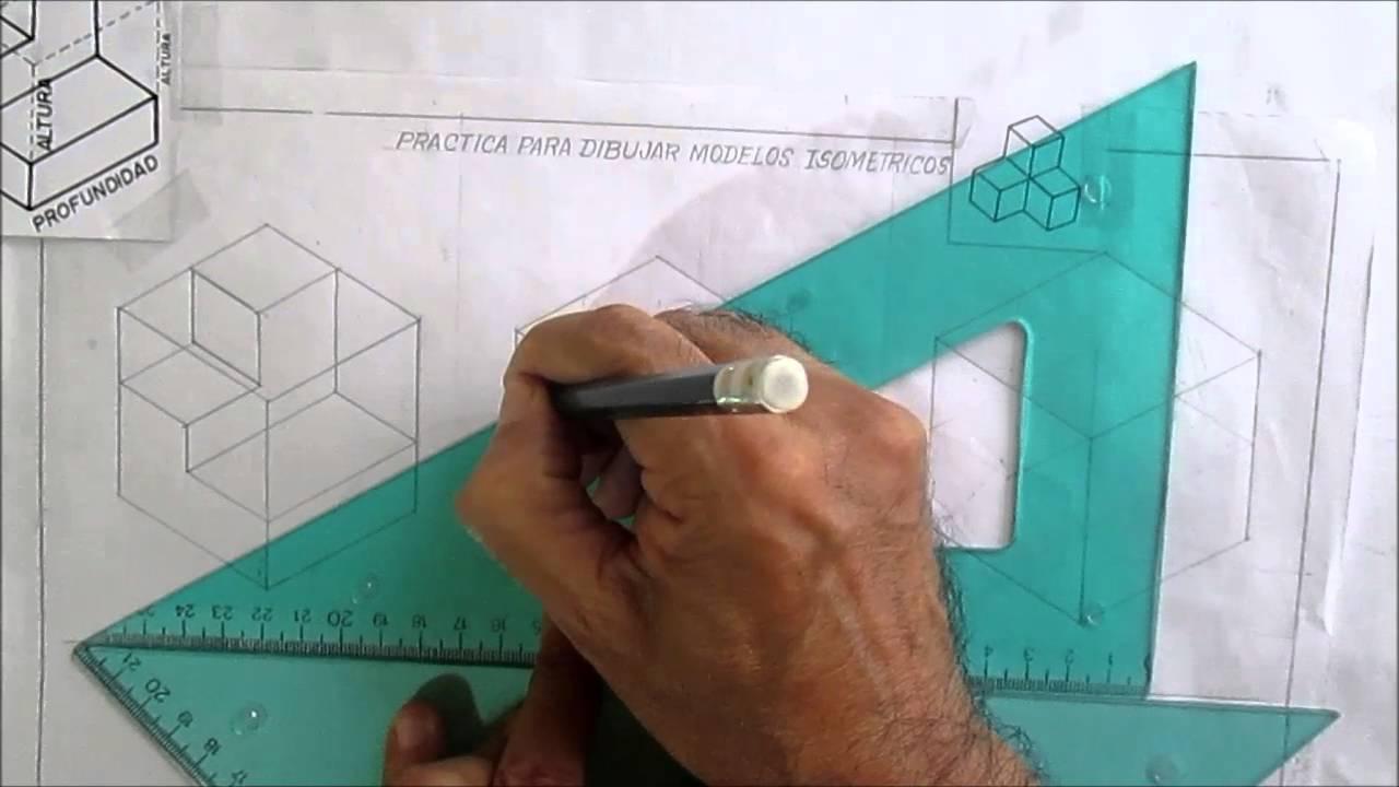 Dibujo Tecnico Isometricos Practica Para Dibujar Modelos Youtube