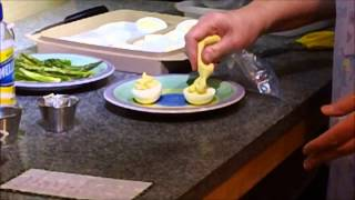 Bearnaise Sauce Easy & Fancy Deviled Eggs Low Carb  = 0.87 Carbs