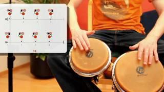 BONGOS LERNEN - Grundschläge, Rhythmen mit Zählen - S. 01-19