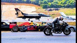 Coole Videos #364: F16 vs Kawasaki Ninja H2R vs F1 || ✪ Stern DuTube