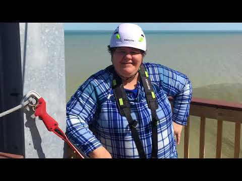 Jennie Geisler tries out Lake Erie Canopy Tours in Geneva-on-the-Lake, Ohio
