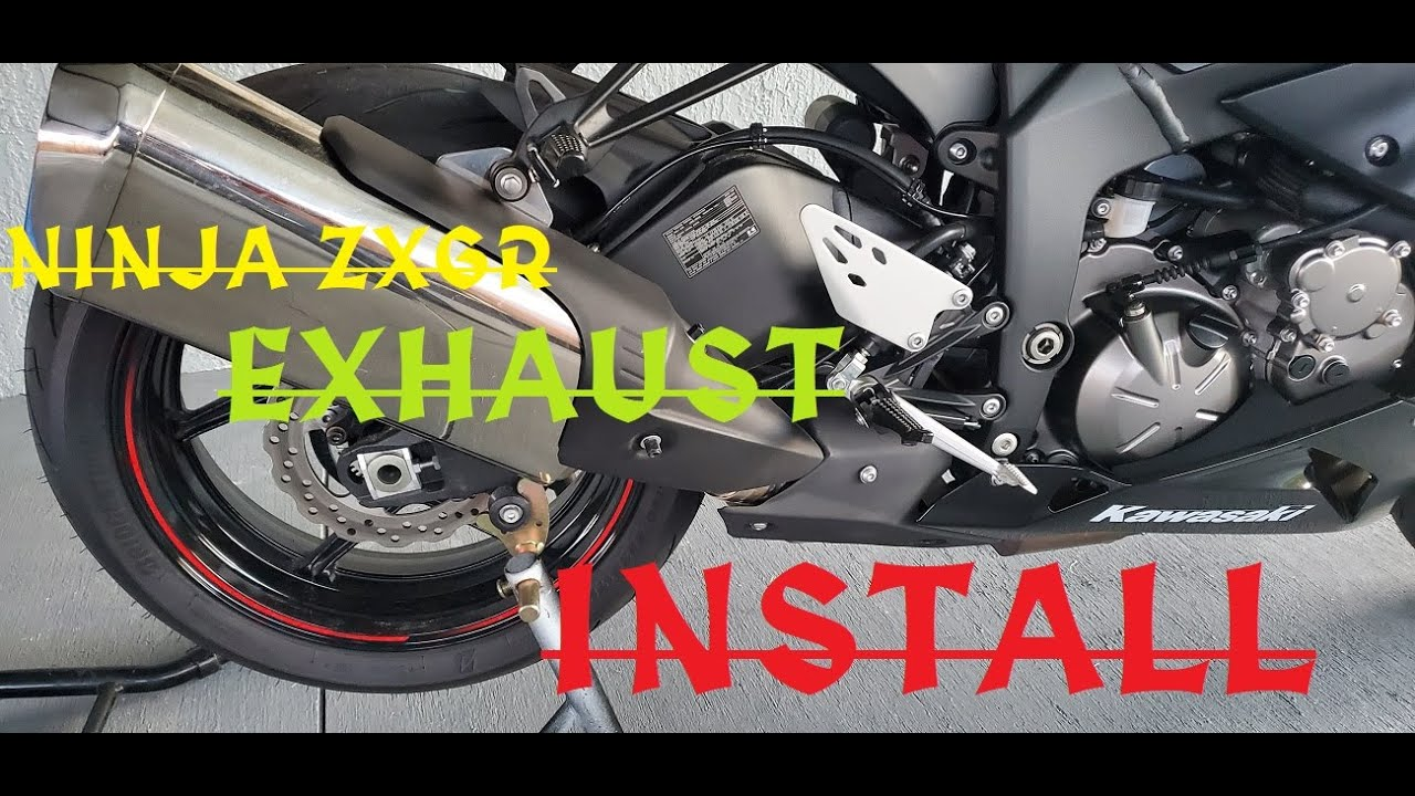 kawasaki zx6r 2019 2020 m4 exhaust no flames