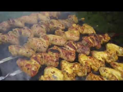 Сочные куриные крылышки на мангале