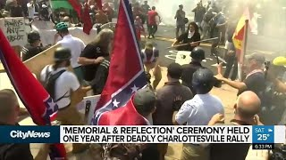 Memorial held 1 year after deadly Charlottesville rally