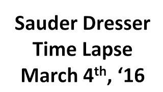 Time Lapse Sauder Dresser Assembly