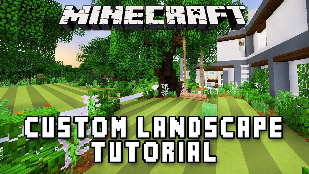 Minecraft tutorial swing set and custom garden landscape for Modern swing set design