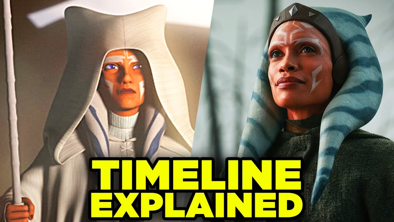 Mandalorian: AHSOKA TANO TIMELINE! Star Wars Clone Wars, Rebels, Grogu, Vader & Maul!