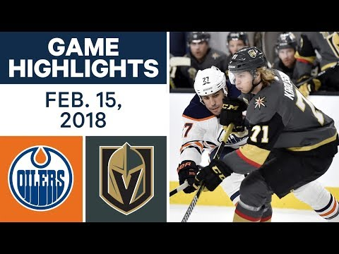 nhl game highlights oilers vs golden knights feb 15 2018