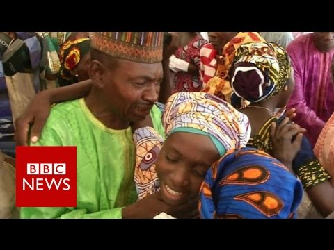 Tears of joy for reunited Chibok girls - BBC News