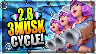 INSANE 2.8 SUPER FAST CYCLE 3 MUSKETEER DECK!! Destroy The Meta! Clash Royale Three Musketeers Deck