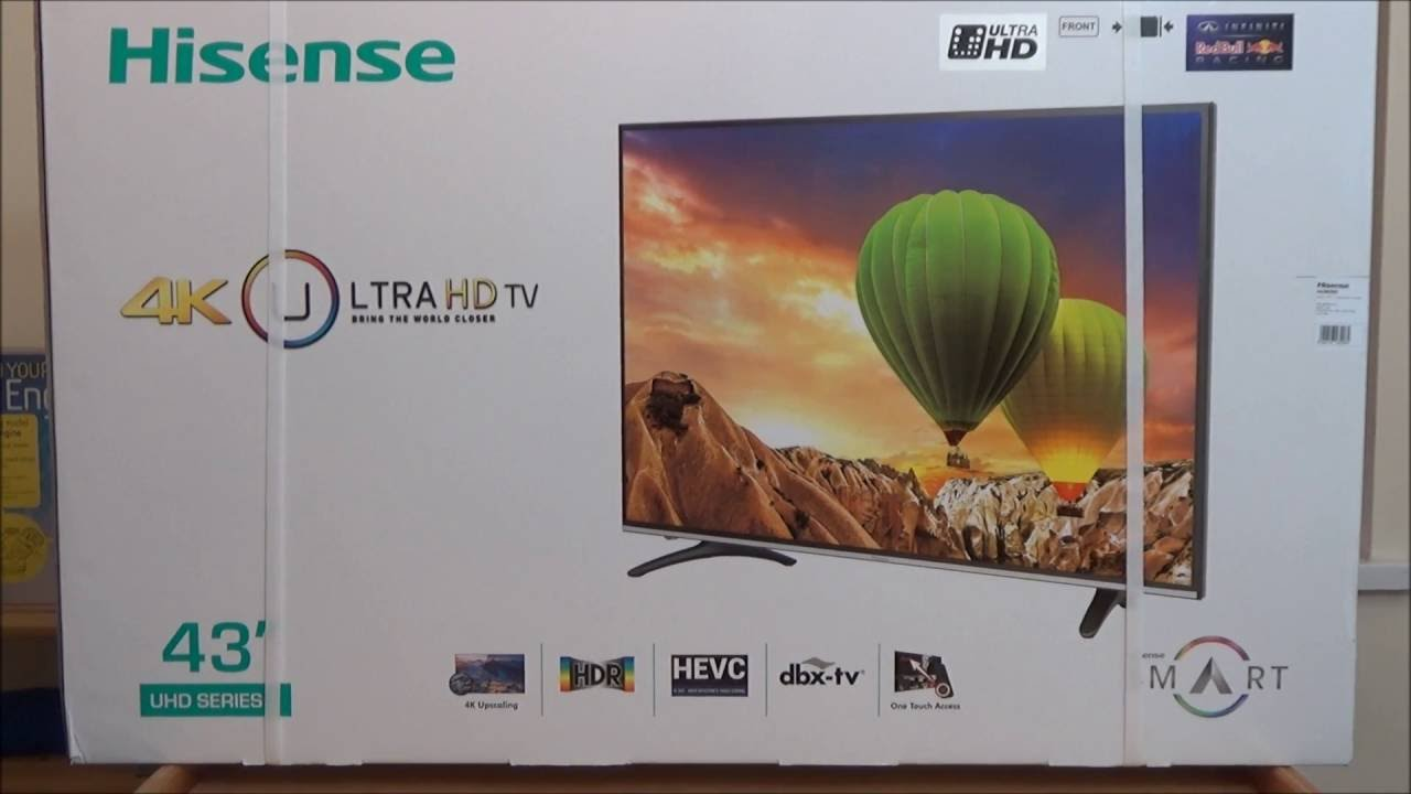 unboxing and first impressions hisense h43m3000 4k smart tv uk version as pc monitor youtube. Black Bedroom Furniture Sets. Home Design Ideas