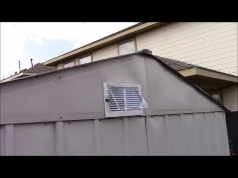 TOOL SHED VENT INSTALL
