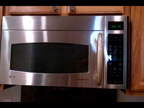 G E Profile Microwave Oven Short Demo Of The Moving Vent
