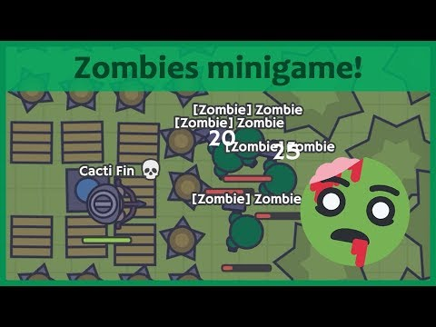 Moomoo.io - EPIC ZOMBIES MINIGAME! Defending Against Bots In Experimental Mode!