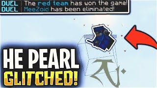 THIS OP PEARL GLITCHING METHOD MADE ME LOSE...   Minecraft