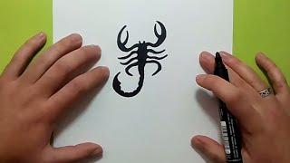 Como dibujar un escorpion paso a paso | How to draw a scorpion