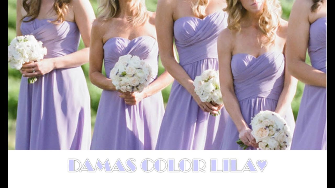 Damas de honor color LILA ♥ - YouTube