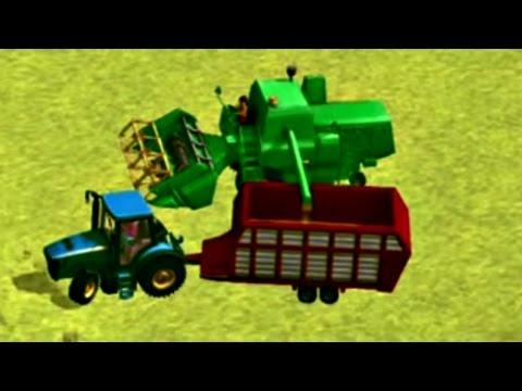 Игры ФЕРМА. Развивающий мультик про Трактор и Сбор Урожая. Обзор приложения Маленький Фермер