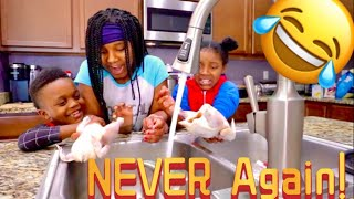 Authentic Kids Cook For The First Time   Authentic Benny *FAIL