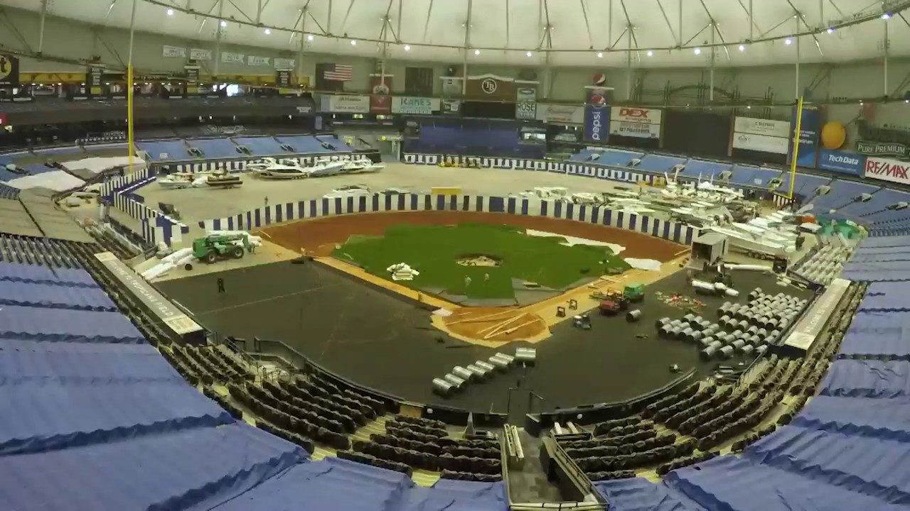Time-lapse: Rays install new turf at The Trop for 2017 ...