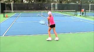 Melanie Dlugolecki 9 years old tennis training session part 2