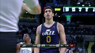 Enes Kanter 22 Pts Great Slam Dunk at Celtics 2013.11.06