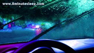 RAIN ON CAR | Seriously Awesome Rainstorm White Noise | 10 Hours