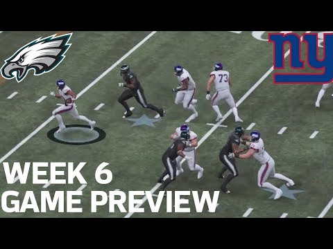 Eagles vs. Giants Madden 19 Game Simulation | Week 6 Game Preview