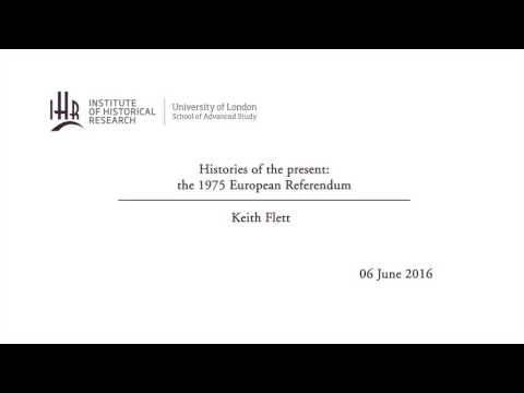 Histories of the present: the 1975 European Referendum