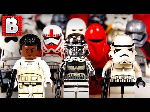 Every Lego Stormtrooper Minifigure Ever!!! + Rare Chrome Trooper!   Collection Review
