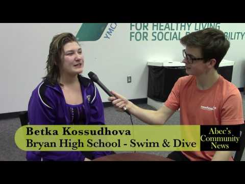 Bryan High School foreign exchange student Betka Kossudhova claims MVP at first swim meet