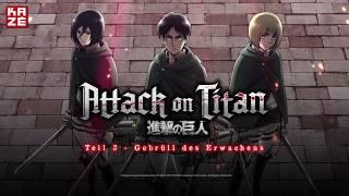 Attack on Titan – Anime Movie Teil 3: Gebrüll des Erwachens (Anime-Trailer)