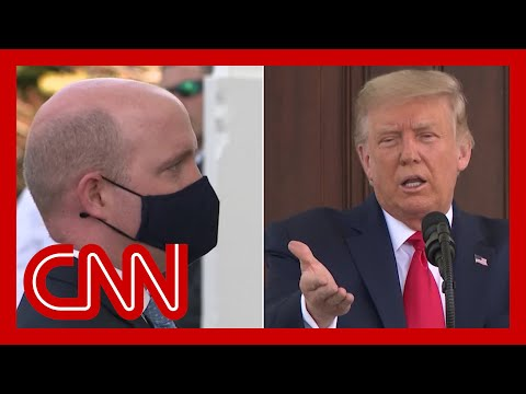 Trump tells reporter to take mask off during briefing