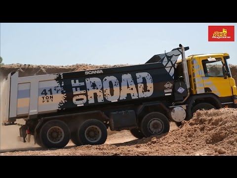 Off-road truck trial of Hardox In My Body dumper with Scania Argentina