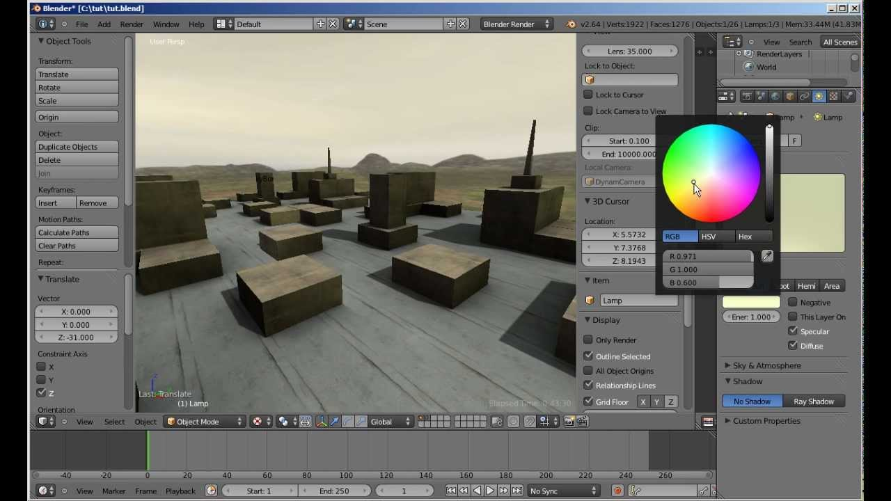 Create a Game Environment with Blender and Unity [Video]