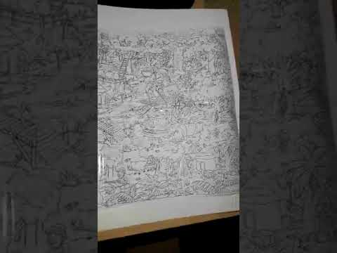 619   Giant Colouring Poster Jungle