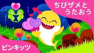 バレンタインデーサメのかぞく | サメのかぞく | ちびザメとうたおう | どうぶつのうた | ピンキッツ童謡