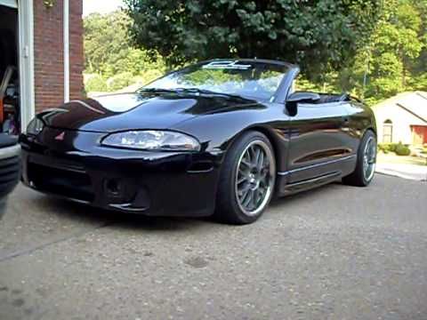 Hellaflush 1998 Eclipse Spyder Walk Around 18 X 8 5 18 X 9 5 Youtube