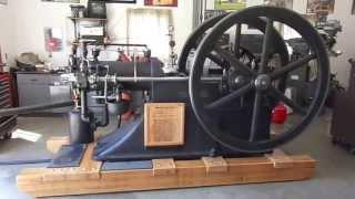 10 HP Schleicher Schumm slide valve engine Start up week 2 after slide modification, re-rescraping