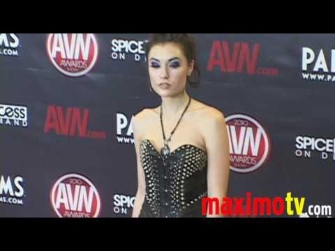 SASHA GREY on the Red Carpet at 2010 AVN AWARDS SHOW