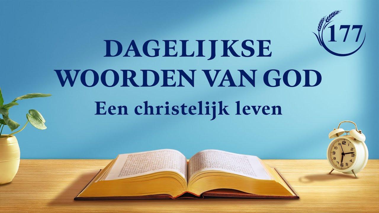 Dagelijkse woorden van God | Gods werk en het werk van de mens | Fragment 177