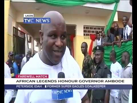 Download Farewell Match: African legends honour Governor Ambode