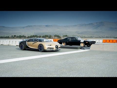 "*2018* Bugatti CHIRON Vs *2000HP* Plymouth GTX ""Fast & Furious"" Drag Race! Forza 7"