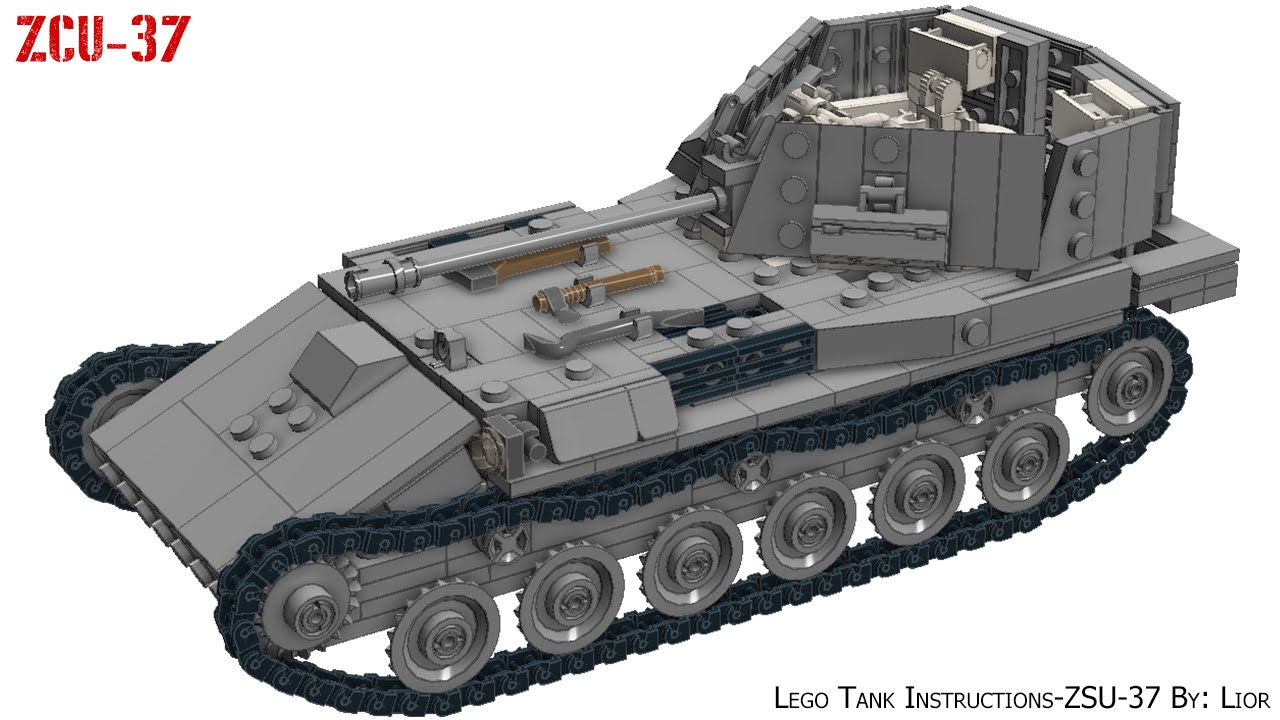 how to make a lego tank instructions